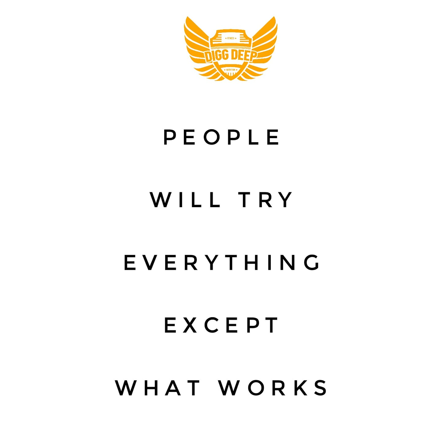 people will do everything except what works