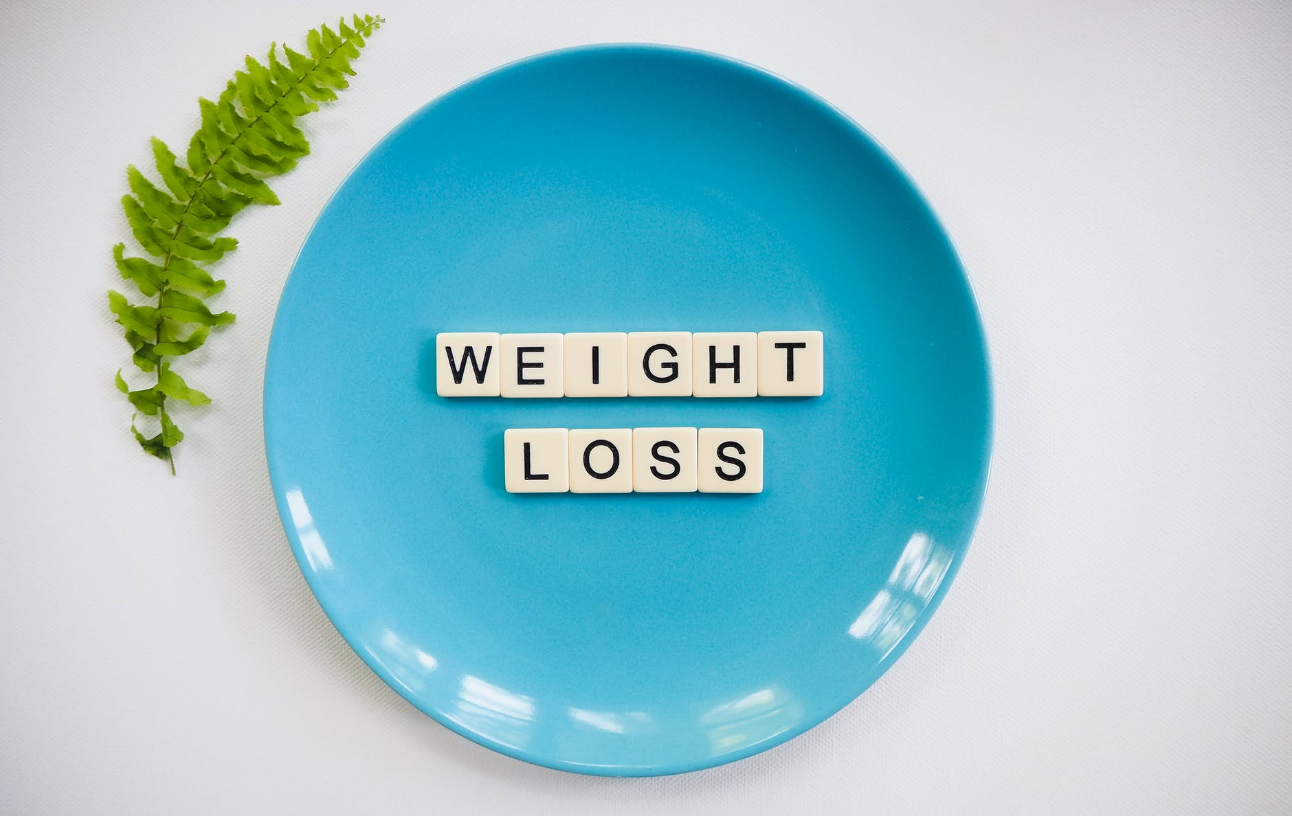 weight loss words on plate